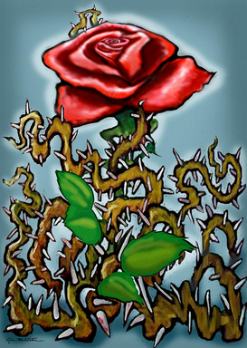 Image courtesy of http://fineartamerica.com/featured/rose-n-thorns-kevin-middleton.html Title: Rose N Thorns Artist: Kevin Middleton